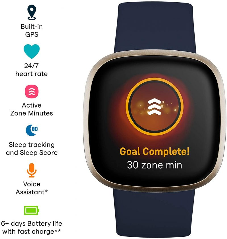 This is an image of Fitbit Versa 3 Health & Fitness Smartwatch