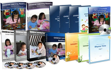 This is an image of the Children Learning Reading book Premium combo.
