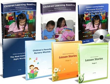 This is an image of Children Learning Reading - standard combo